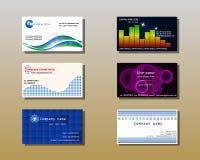 mallar för affärskort Fotografering för Bildbyråer