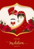 Mallar för bröllopinbjudankort stock illustrationer
