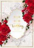 Mallar för bröllopinbjudankort Royaltyfria Foton