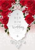 Mallar för bröllopinbjudankort Fotografering för Bildbyråer