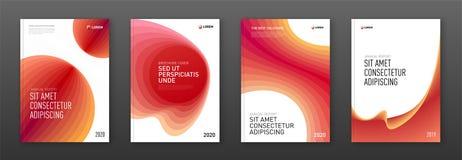 Mallar för broschyrräkningsdesign ställde in för affär vektor illustrationer
