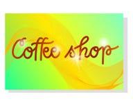 Mallar för coffee shopkupong- eller affärskort Abstrakt design vektor vektor illustrationer