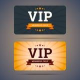 Mallar för design för Vip-klubbakort i plan stil Royaltyfria Foton