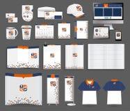 Mallar för företags identitet för vektor Fotografering för Bildbyråer