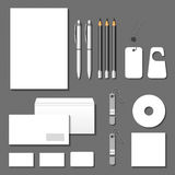 Mallar för företags identitet för vektor Kort kuvert, affär c Royaltyfria Foton