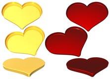 mallar för hjärta 3d Arkivbild