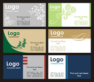 mallar för samling för affärskort Arkivfoton