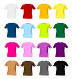 mallar för skjorta t Arkivbild