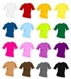 mallar för skjorta t Arkivfoto