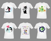 mallar för skjorta t Arkivfoton