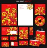 mallar för stil för abstrakt affärsmodell röda Royaltyfri Bild