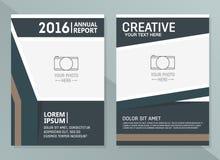 Mallar för vektorårsrapportdesign Mall för orientering för affärsbroschyr-, reklamblad- och räkningsdesign Arkivbilder