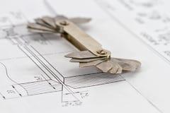 Mallar för visuell mätningskontroll är på teckningsröret Royaltyfri Foto