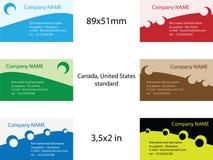 mallar för affärskort Arkivbild
