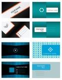 mallar för affärskortset Arkivfoto