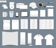 Mallar för företags identitet för vektor Arkivbild