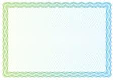 Mallcertifikat, valuta och diplom stock illustrationer