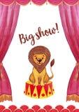 Malldesign f?r cirkusteateraffisch stock illustrationer