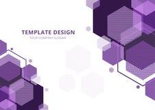 Malldesign, geometrisk purpurfärgad signal, vektor vektor illustrationer