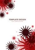 Malldesign, geometrisk röd signal royaltyfri illustrationer