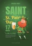 Malldesignaffisch för Sts Patrick parti royaltyfri illustrationer