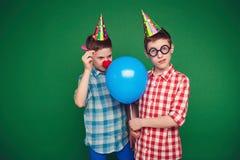Malle tweelingen Royalty-vrije Stock Foto's
