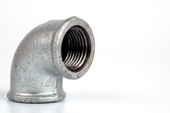 Malleable Iron Elbow 90° closeup Royalty Free Stock Images