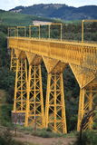 Malleco Viaduct, Chile. The Malleco Viaduct Spanish: Viaducto del Malleco is a railway bridge located in central Chile, on October 26, 1890. At that time, it was Royalty Free Stock Image