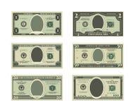 Mallen av fejkar pengar Vektorbilder av dollar vektor illustrationer