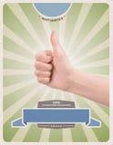 Retro framgång utformar affischmallen Fotografering för Bildbyråer
