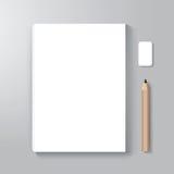 Mallen för bokomslagdesignstil/kan användas för den EBook räkningen Royaltyfri Foto
