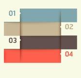 Mallen för den moderna designen/kan användas för infographics Arkivfoto