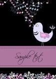 mallen för fågelkortdesignen trimmar Royaltyfri Fotografi