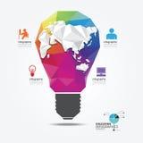 Mallen för geometrisk stil för ljus för den moderna designen kan den infographic/b Arkivbild