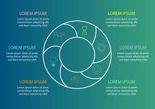 Mallen för pajdiagrammet - cirkla diagrammet för affärsrapport eller presentation statistik royaltyfri illustrationer
