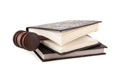 Mallet and books Stock Photography
