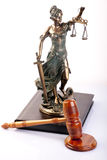 Mallet of justice. Law concept shot in studio royalty free stock photos