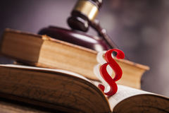 Mallet of justice!. Law concept Stock Images