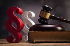 Mallet of justice!. Law concept Royalty Free Stock Image
