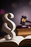 Mallet of justice!. Law concept Royalty Free Stock Photo