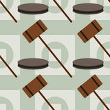 Mallet seamless background design Royalty Free Stock Photography