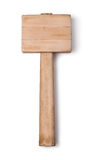 Mallet wood. Isolated on a white background Stock Photography
