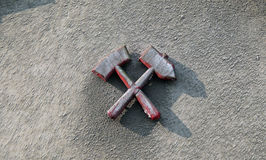 Mallets and iron Stock Image
