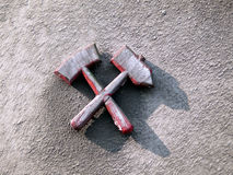 Mallets and iron. Icon from coal mining Royalty Free Stock Photos