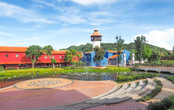 Mallika地方在北碧,泰国- 2017年8月13日:Plac 免版税库存照片