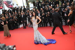 Mallika Sherawat. Attends the 'Cafe Society' premiere and the Opening Night Gala during the 69th Cannes Film Festival at the Palais des Festivals on May 11 royalty free stock photos