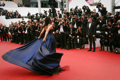 Mallika Sherawat. Attends the 'Macbeth' Premiere during the 68th annual Cannes Film Festival on May 23, 2015 in Cannes, France Stock Photos