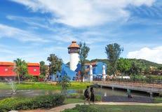 Mallikaplaatsen in Kanchanaburi, Thailand - Augustus 13, 2017: Plac Royalty-vrije Stock Foto