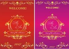 Mallinbjudan till bröllopet Arkivbilder