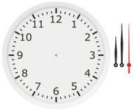 Mallklocka med pilar och nummer som isoleras på royaltyfri illustrationer